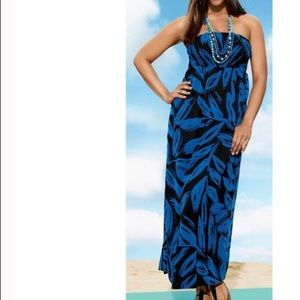 Lane Bryant Printed Maxi Dress